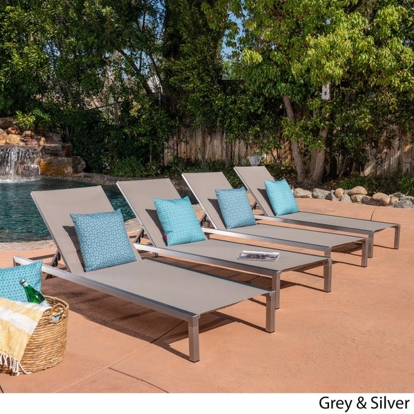Navan Outdoor Chaise Lounge Set Of 4 By Christopher Knight Home