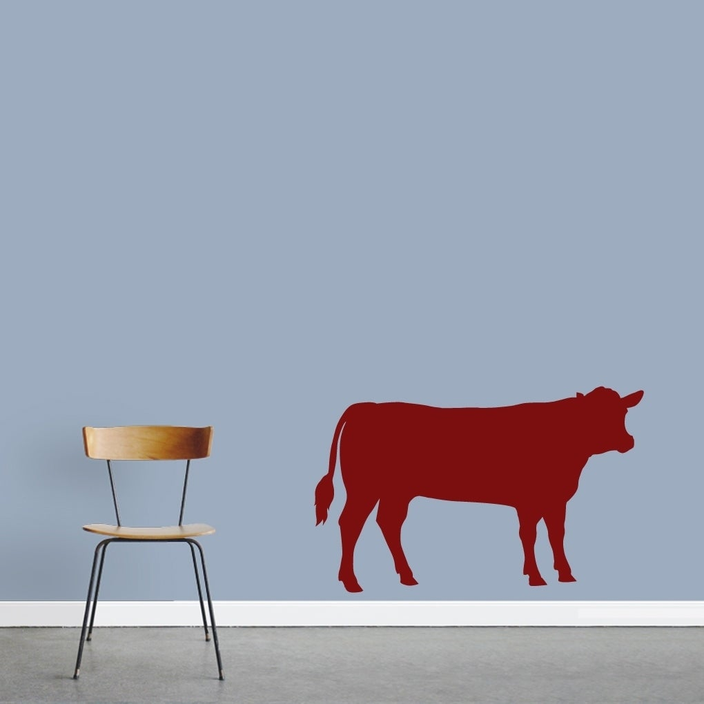 Cow Silhouette Wall Decal On Sale Overstock 20713031