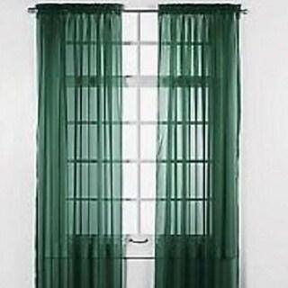 "Solid One Panel Sheer Curtain Window Drape 54"" x 84"" Hunter"