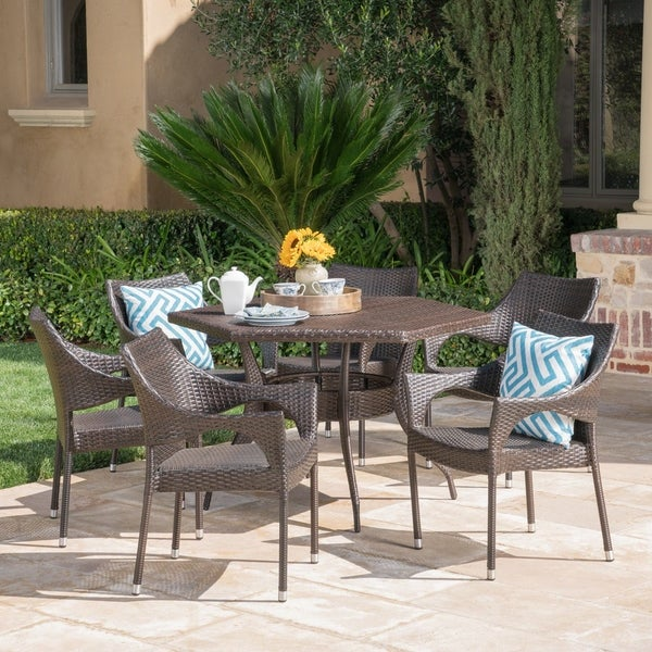 Rylee Outdoor 7-Piece Dining Set by Christopher Knight Home