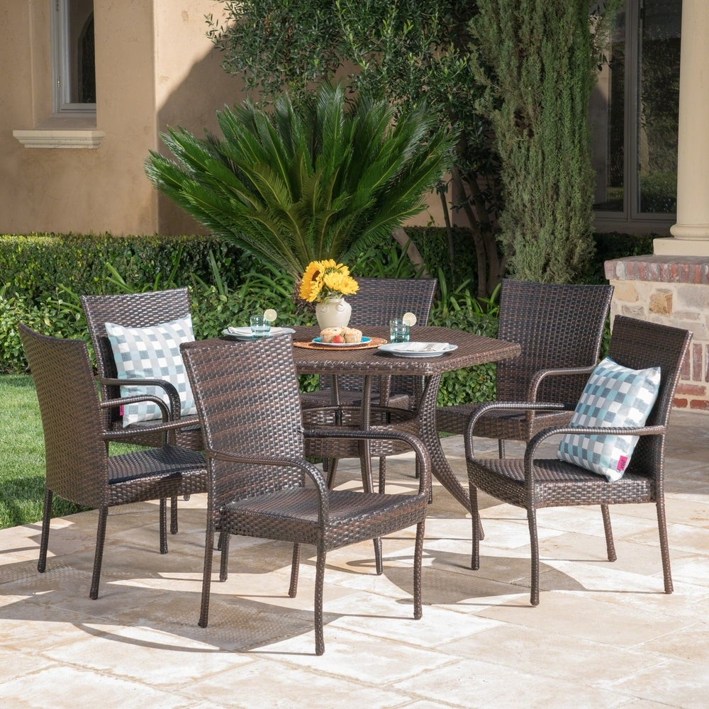 7-Piece Christopher Knight Home Leighton Outdoor Dining Set