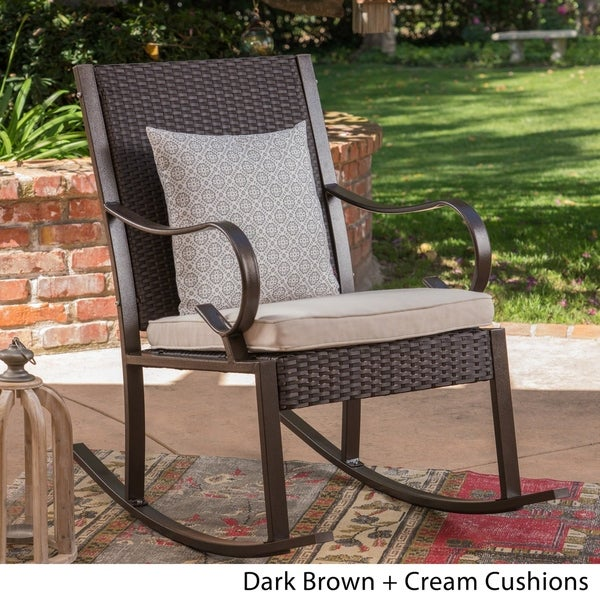 Shop Harmony Outdoor Rocking Chair By Christopher Knight