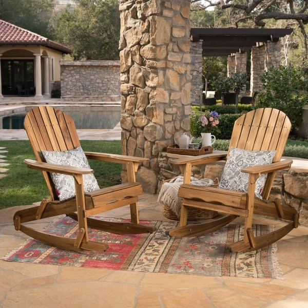 Ordinaire Malibu Outdoor Adirondack Rocking Chair (Set Of 2) By Christopher Knight  Home