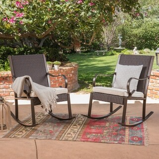 Harmony Outdoor Rocking Chair (Set of 2) by Christopher Knight Home