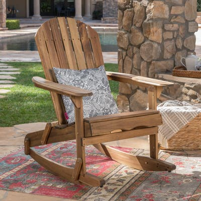 Malibu Outdoor Adirondack Rocking Chair by Christopher Knight Home