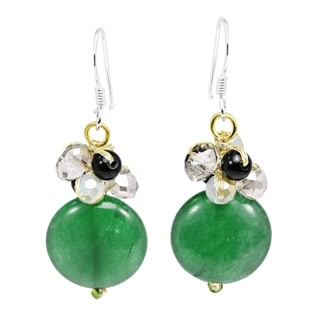 Link to Handmade Stylish Circular Stone & Crystal Cluster Dangle Earrings (Thailand) Similar Items in Earrings