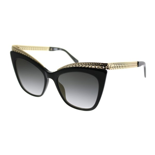 4ff4398c4f0 Moschino Cat-Eye 009/S 807 FQ Women Black Frame Gold Gradient Mirror Lens