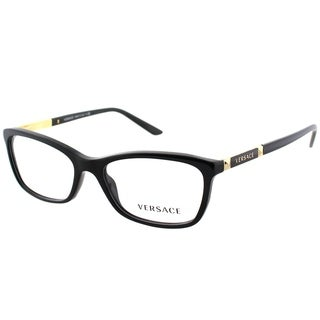 Versace Rectangle VE 3186 GB1 Unisex Black Frame Eyeglasses
