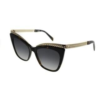 Moschino Cat-Eye 009/S 086 9O Women Dark Havana Frame Dark Grey Gradient Lens Sunglasses