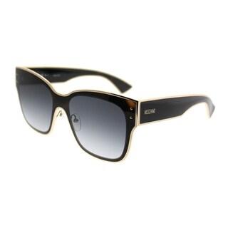 Moschino Square 000/S 086 9O Unisex Dark Havana Frame Dark Grey Gradient Lens Sunglasses