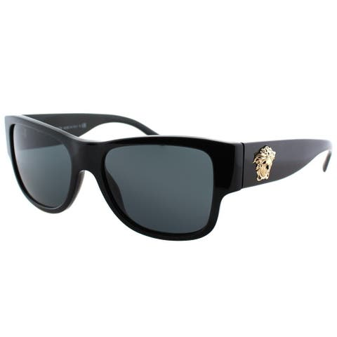 Versace Square VE 4275 GB1/87 Unisex Black Frame Grey Lens Sunglasses