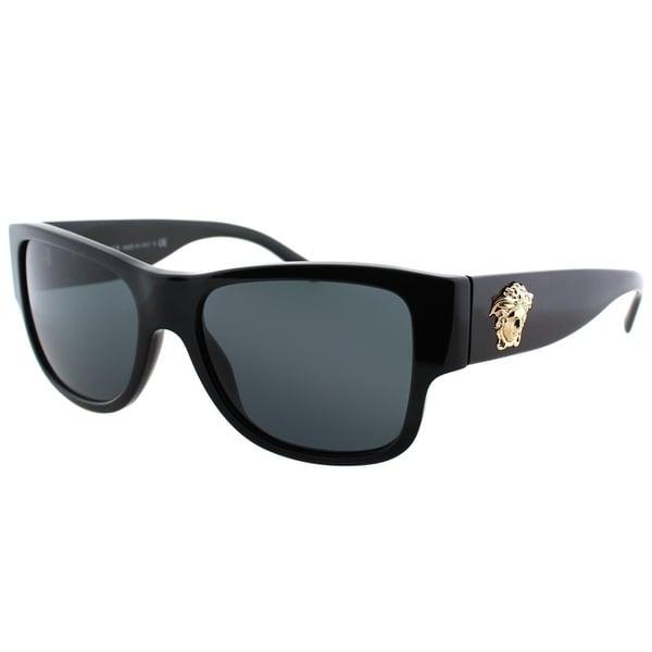 09b720aa382 Versace Square VE 4275 GB1 87 Unisex Black Frame Grey Lens Sunglasses