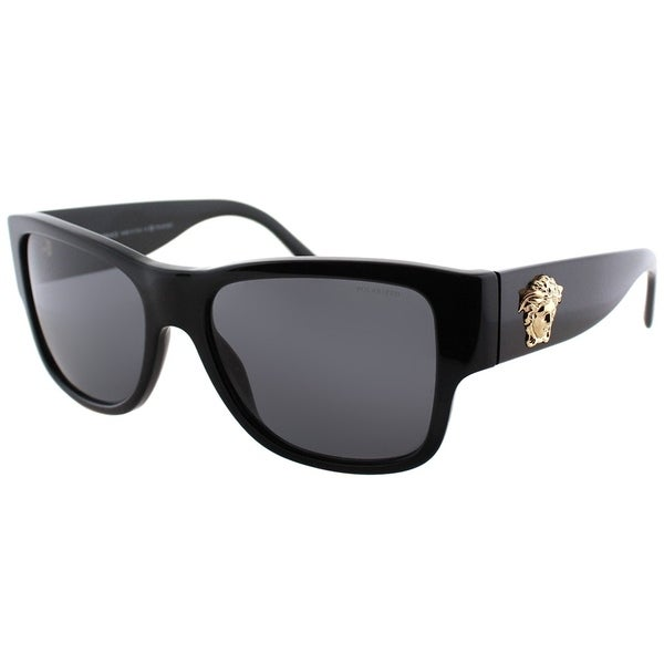 5faed2d3b3 Versace Square VE 4275 GB1 81 Unisex Black Frame Grey Polarized Lens  Sunglasses