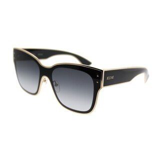 Moschino Square 000/S 807 90 Unisex Black Frame Dark Grey Gradient Lens Sunglasses