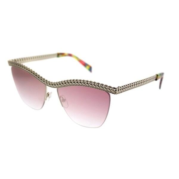 Moschino Cat-Eye 010/S PSX VQ Women Gold Light C Metal Frame Pink Mirror  Lens Sunglasses