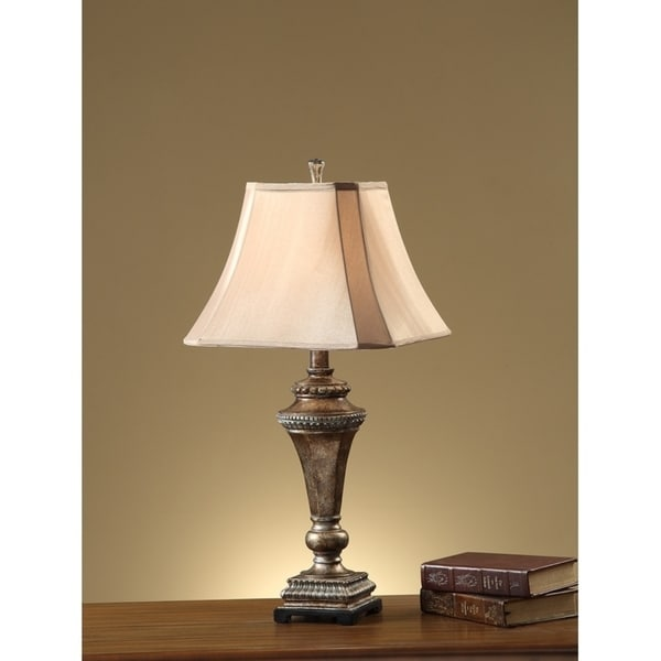 Shop Empire Square Shade Table Lamp With Pillar Stand Set Of 2