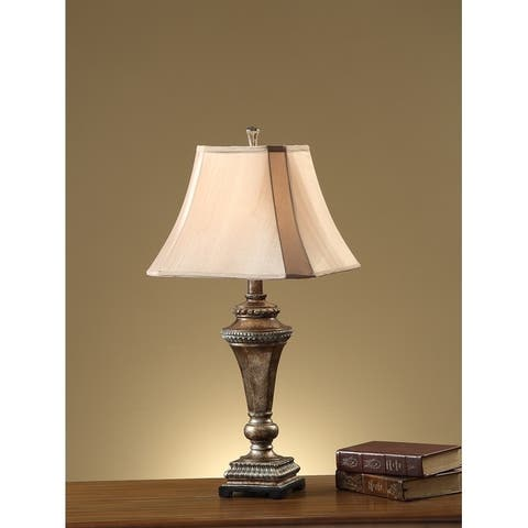 Empire Square Shade Table Lamp With Pillar Stand Set of 2