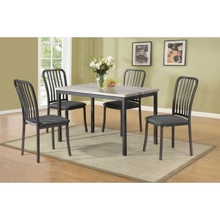 Demure Metal Frame 5 Pieces Dining Set In Gray