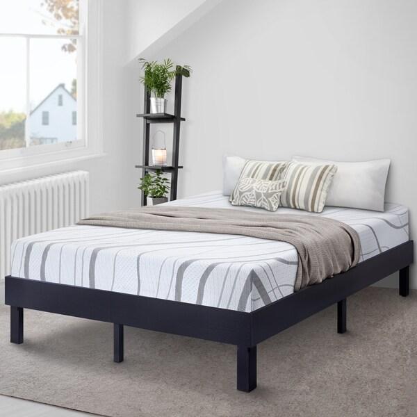 Shop Sleeplanner Wood Platform Bed Steel Slat Support
