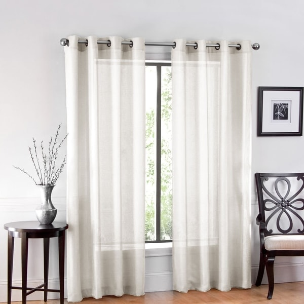 "Shop One Luxurious Sheer Grommet Curtain Panels ""54 X 84"
