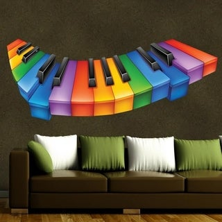 "Piano Keys Full Color Wall Decal Sticker AN-249 FRST Size30""x60"""