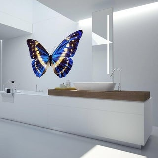 """Blue Butterfly Full Color Wall Decal Sticker AN-272 FRST Size30""""x47"""""""