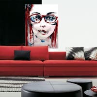 """Girl Portrait Full Color Wall Decal Sticker AN-267 FRST Size40""""x63"""""""