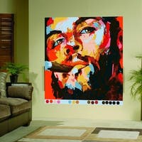 """Man Portrait Full Color Wall Decal Sticker AN-278 FRST Size30""""x30"""""""