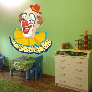 """Clown Party Full Color Wall Decal Sticker AN-276 FRST Size30""""x30"""""""