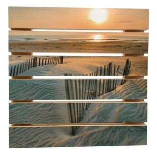ArtWall Steve Ainsworth 'Sunrise Over Hatteras' Wood Pallet Art