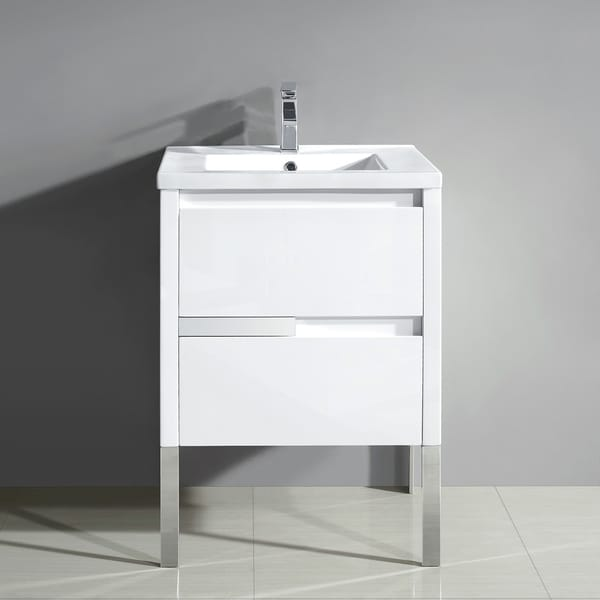 Shop Braxton 24 In. X 18 In. Single Vanity In White With