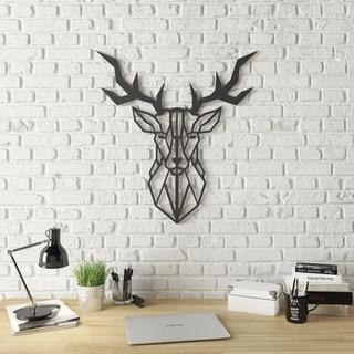 Geo Deer Modern Metal Wall Art