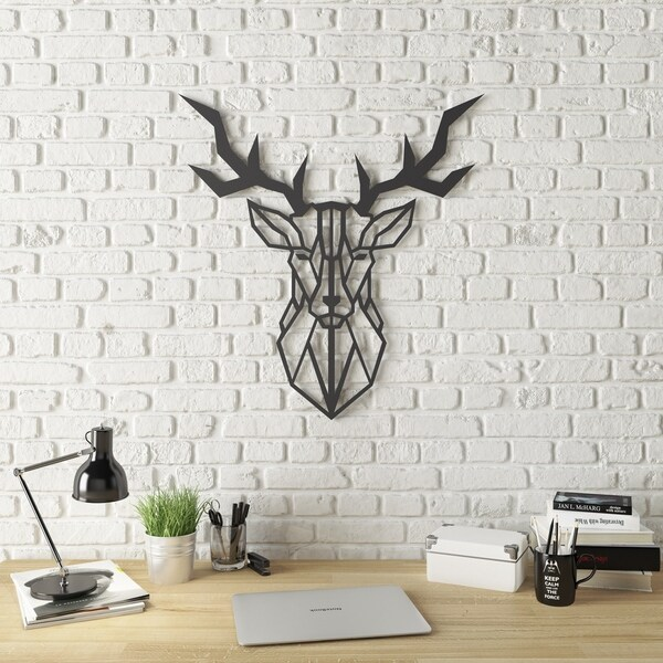 Amazing Geo Deer Modern Metal Wall Art