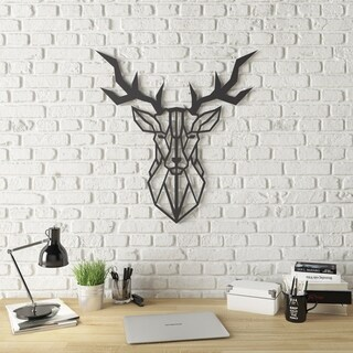 Geo Deer Modern Metal Wall Art