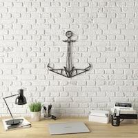 Geo Anchor Modern Metal Wall Art