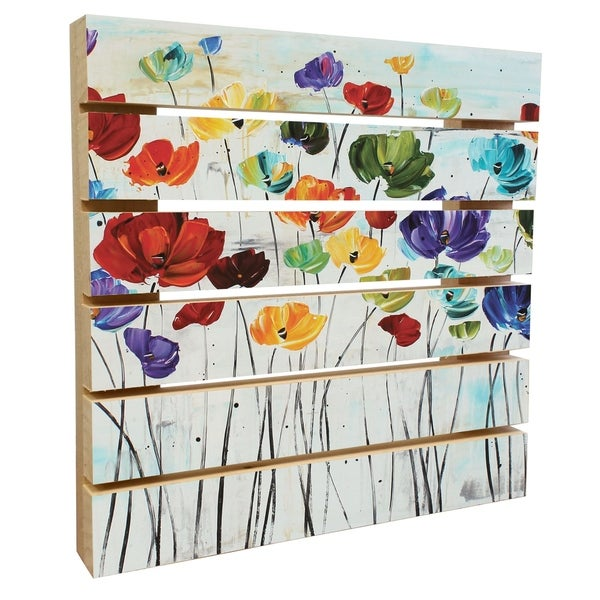 ArtWall Jolina Anthony 'Lillies' Wood Pallet Art