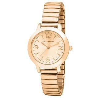 Laura Ashley Rosegold Women's Round Expandable Stainless Steel Bracelet Watch - N/A - N/A