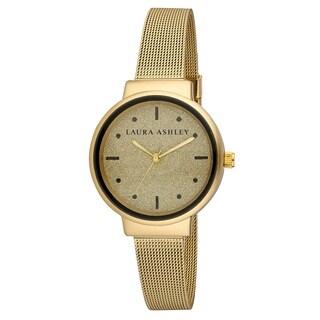 Laura Ashley Spray Gold Mesh Powered Glitz Dial Watch