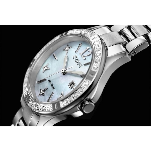 Citizen Ladies' Eco-Drive Sapphire Crystal, Diamond Dial Watch