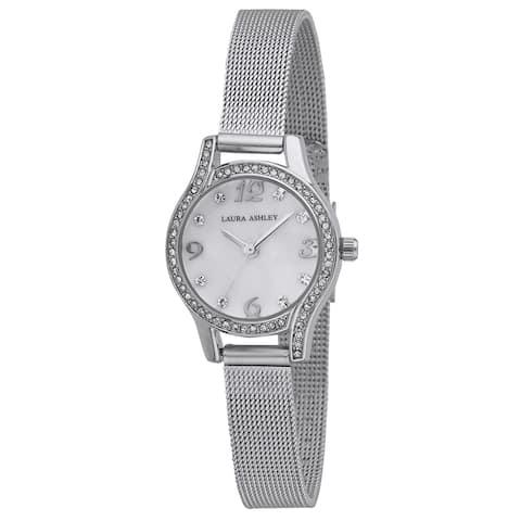 Laura Ashley Mini Silver Mesh Bracelet Watch
