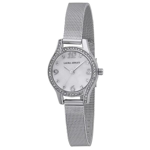 Laura Ashley Mini Silver Mesh Bracelet Watch. Opens flyout.