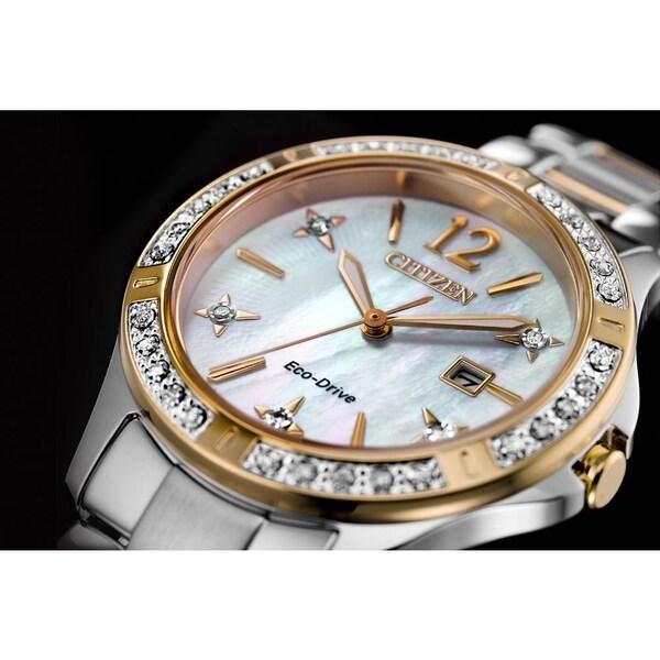 Citizen Ladies' Eco-Drive Sapphire Crystal, Diamond Dial Watch
