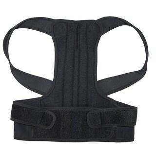 ALEKO Shoulder Waist Back Support Relieve Black Medium