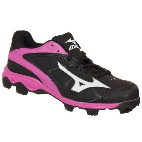 Mizuno Womens 9-Spike Advanced Finch Franchise Softball Cleat Black/Pink