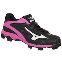 Mizuno Womens 9-Spike Advanced Finch Franchise Softball Cleat Black/Pink