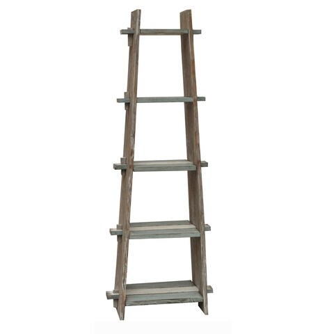 Nantucket Grey Weathered Wood Etagere