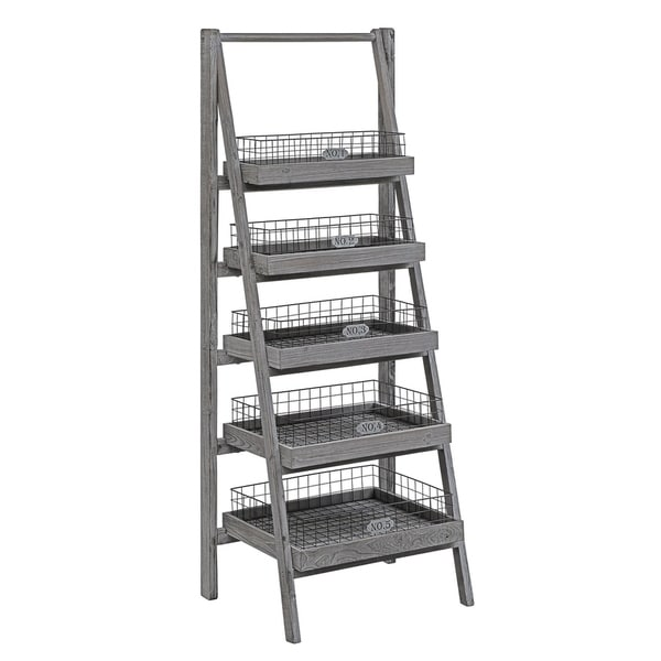 Shop Hastings Charcoal Grey 5 Tier Angled Etagere With