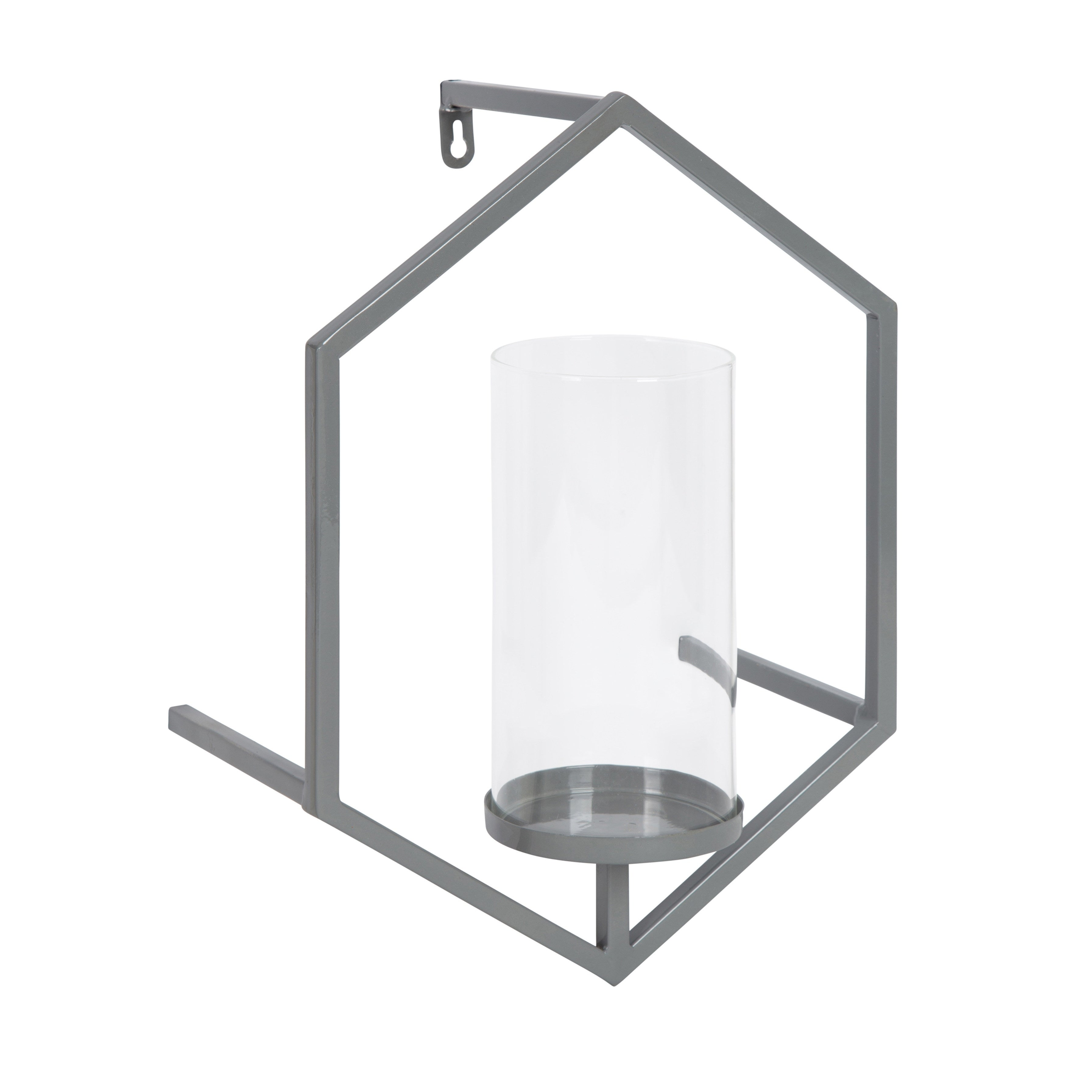 the best attitude cfb80 97f5f Curran Hexagon Metal Sconce Wall Candle Holder with Glass Pillar