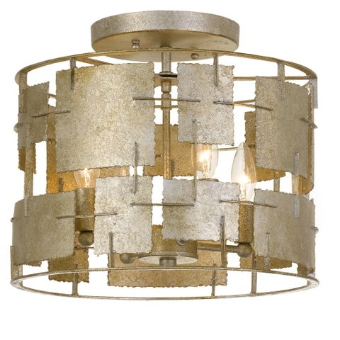 Crystorama Bronson Collection 4-light Oxidized Silver Flush Mount