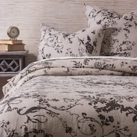 Leonara Charcoal Brown King Duvet Cover